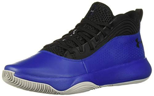 basketball shoe Under Armour Mens Lockdown 4 Basketball Shoe, Black (002)/Royal, 10