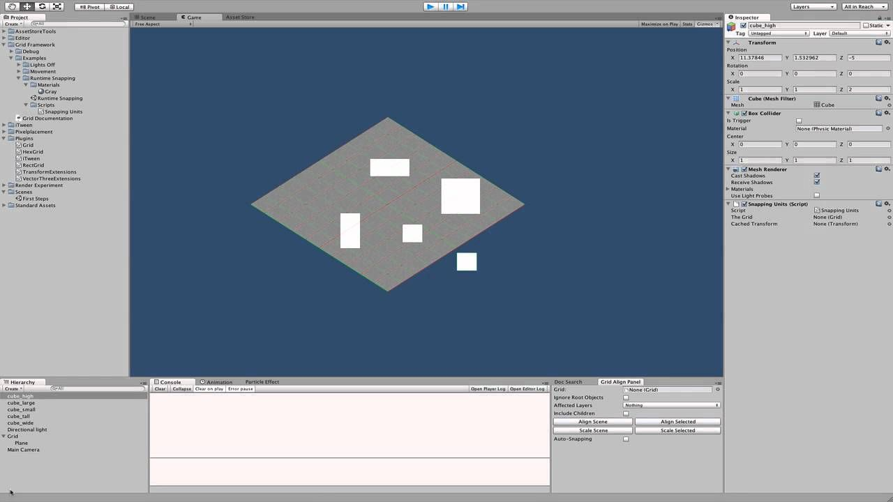 grid-snapping during runtime in Unity 3D | Tutorials