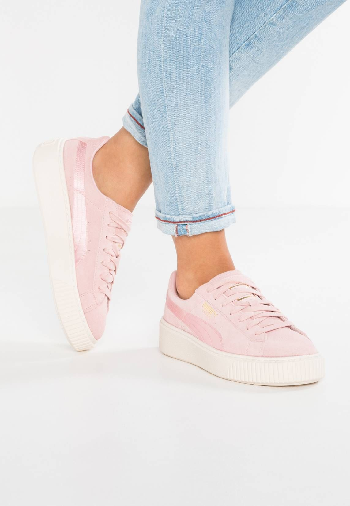 best service a9385 12563 Puma. SUEDE PLATFORM SATIN - Sneakers basse - silver pink ...