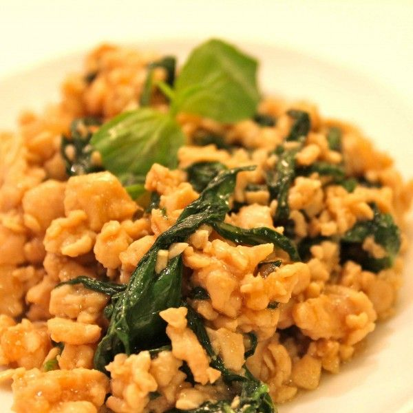 Minced Chicken with Basil