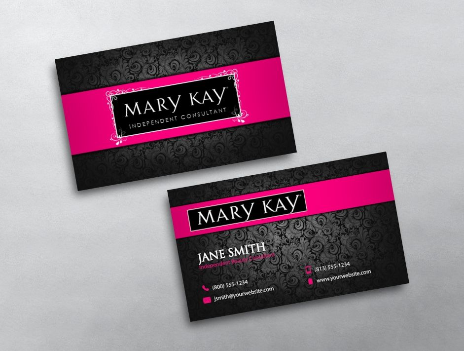 Mary Kay Business Card 05 Mary kay, Free business cards