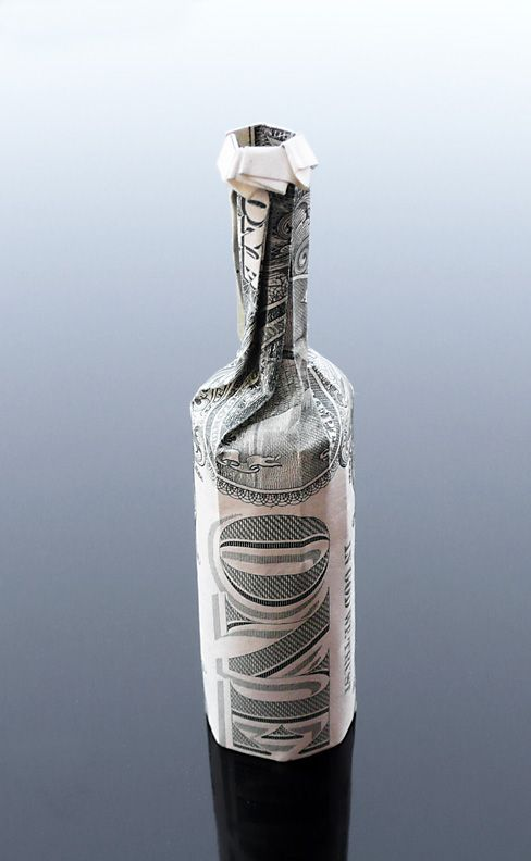 Arte Carta Origami Banconote (26) Dollar Bill Origami Wine Bottle by craigfoldsfives.deviantart.com on @deviantART