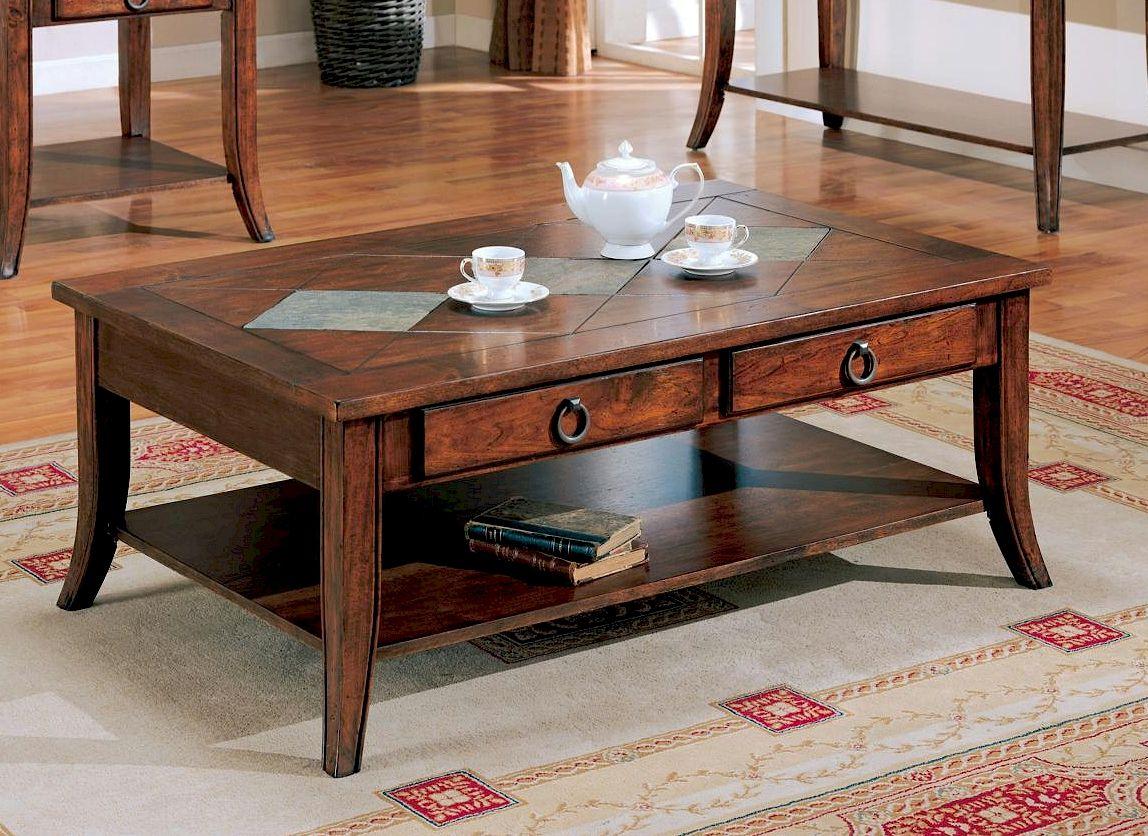 Rustic Storage Coffee Table Fashion Made Coffee Table Coffee Table Slate Coffee Table [ 836 x 1148 Pixel ]