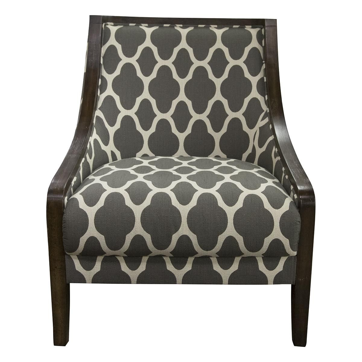 Interlochen Contemporary Accent Chair In Gray
