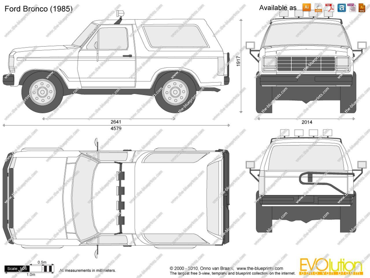 Ford Bronco Blueprints