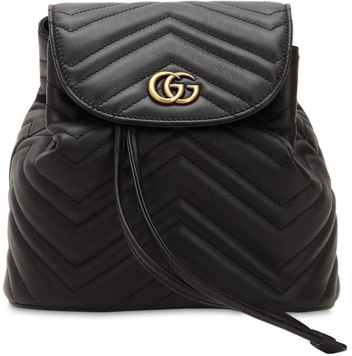 420b04daf5a8ea Gucci Mini Gg Marmont Leather Backpack | Products | Leather Backpack ...
