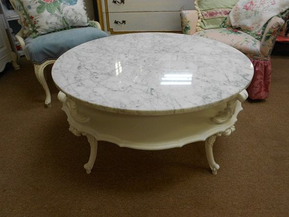 oh marble topped round french provincial coffee table why did