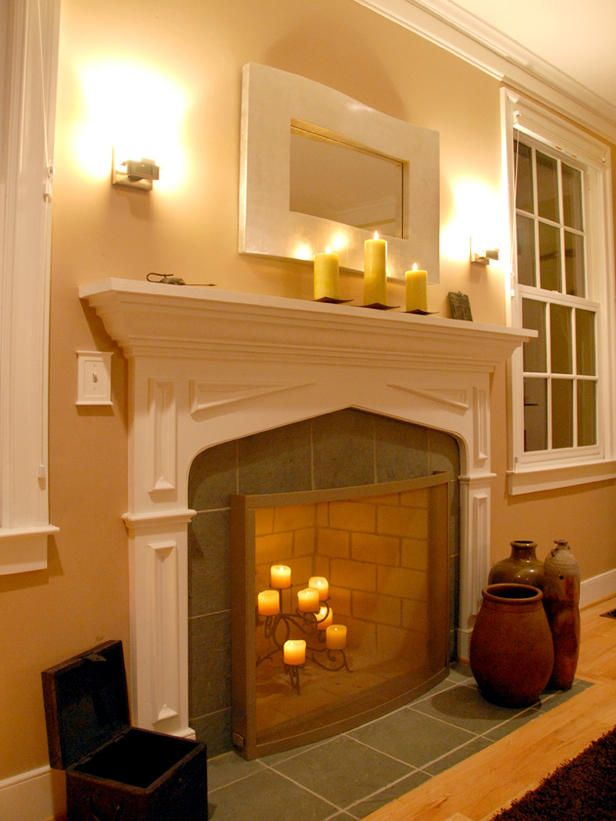 fireplace wall sconces. Highlight Your Mantle With Wall Sconces  From HGTV Lighting Design Updates Hearths Mantels And Hgtv