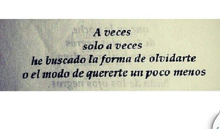A veces..