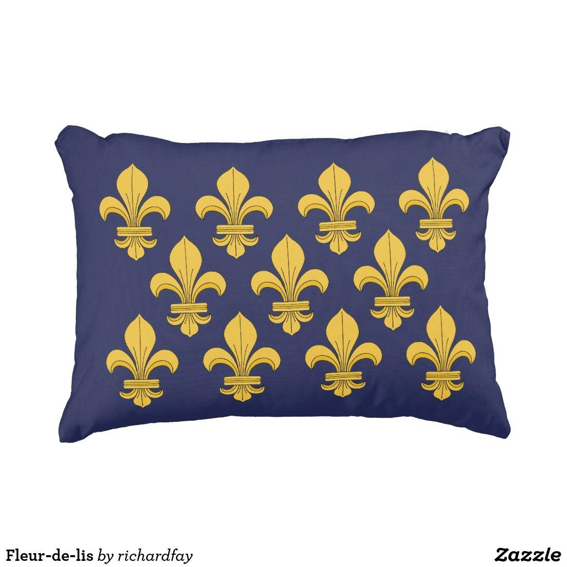 Fleur De Lis Decorative Pillow Zazzle