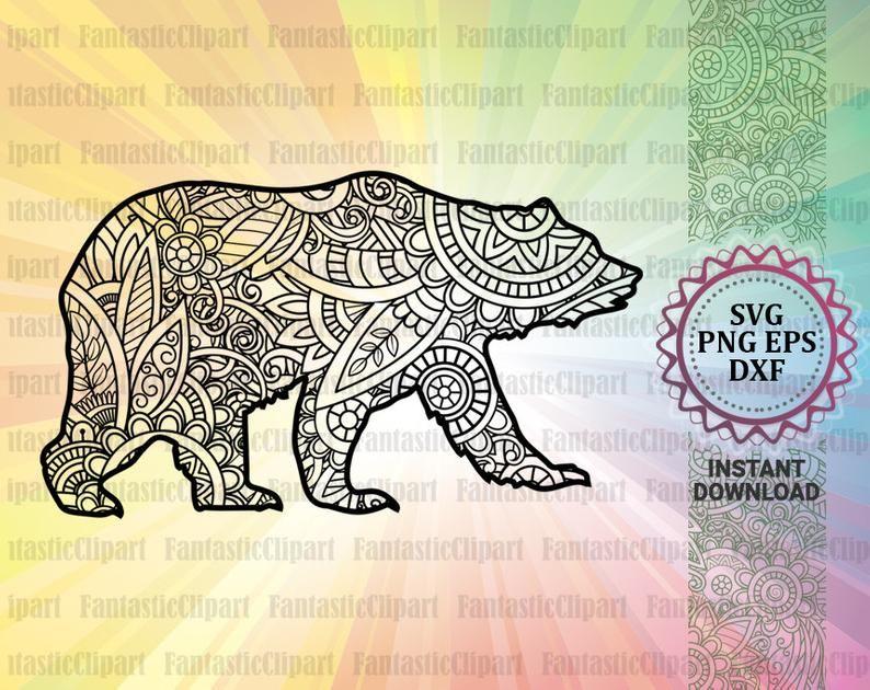 227+ Mama Bear Mandala Svg – SVG,PNG,EPS & DXF File Include