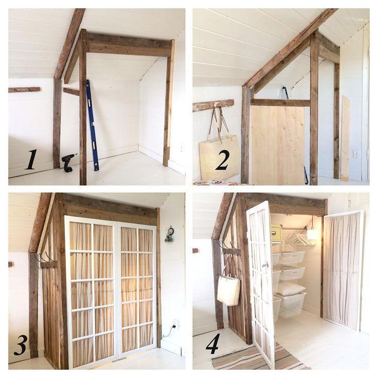 #schlafzimmer #Ausgebauter #Diy #Homes #Kleiderschrank Ausgebauter Kleiderschrank – Homes we w… – Selbermachen – DIY Ideen