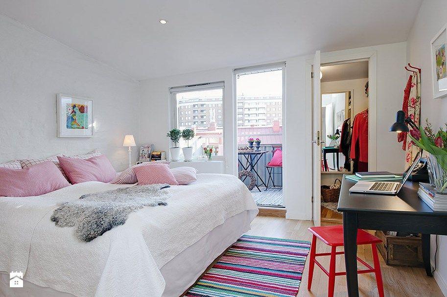Sypialnia Styl Skandynawski Homebookpl ładne Wnętrza