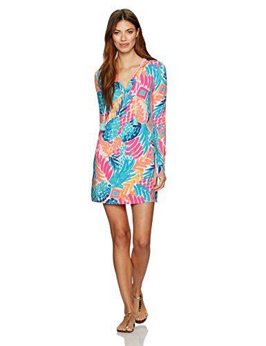 bbc4eba8d31 Lilly Pulitzer Women s Upf 50+ Rylie Cover-up Dress Goombay Smashed ...