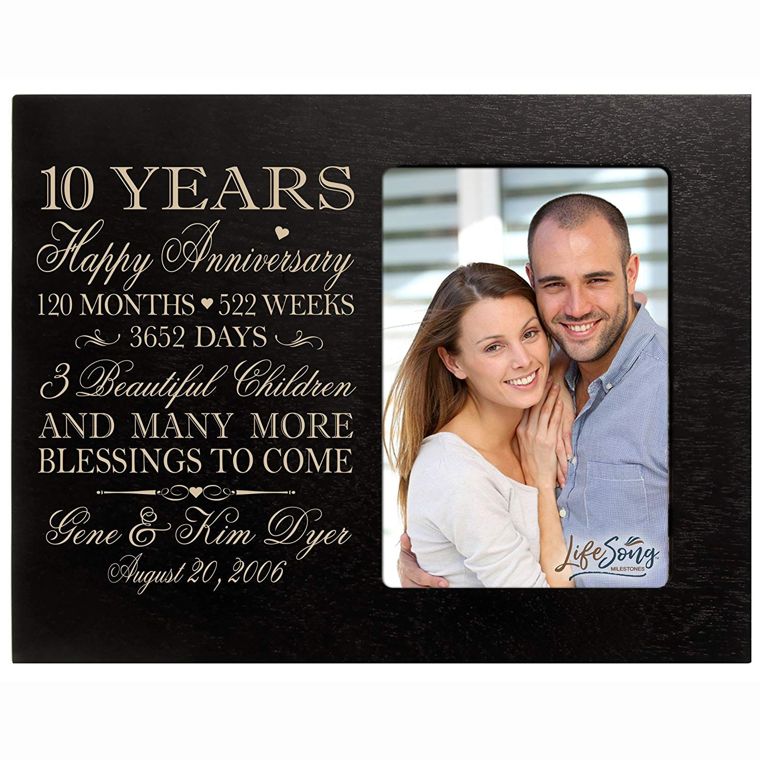 10th Anniversary Gifts For Him Under 60 10th Anniversary Gifts 10 Year Wedding Anniversary Gift Engraved Picture Frames