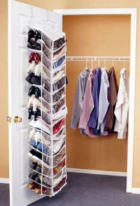 BEDROOM ORGANIZATION IDEAS   30 Pair Shoe Hanging Closet Door Storage Space  Saver