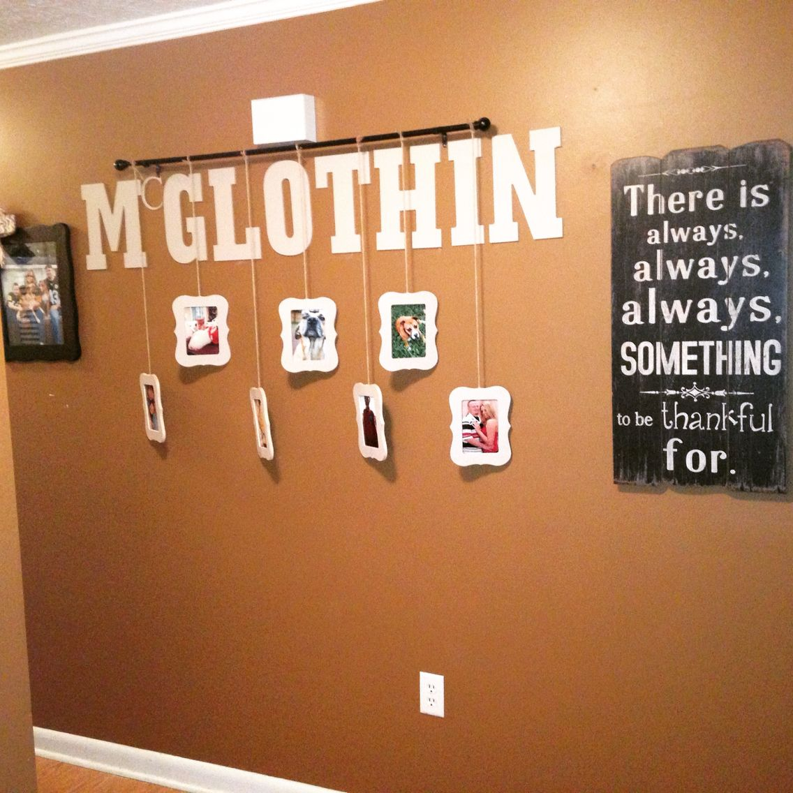 1 Wood Frames From Michaels 3 A Piece Letters Curtain Rod And