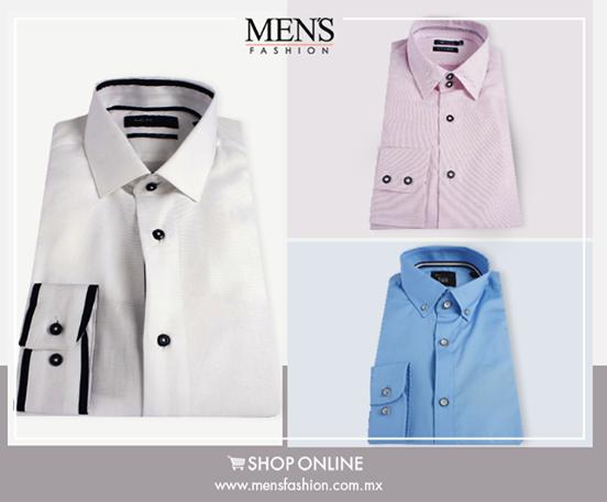 Las #camisas en azul, rosa y blanco, son básicas en el conjunto de todo hombre, ¿ya las tienes?  Compra aquí: www.mensfashion.com.mx