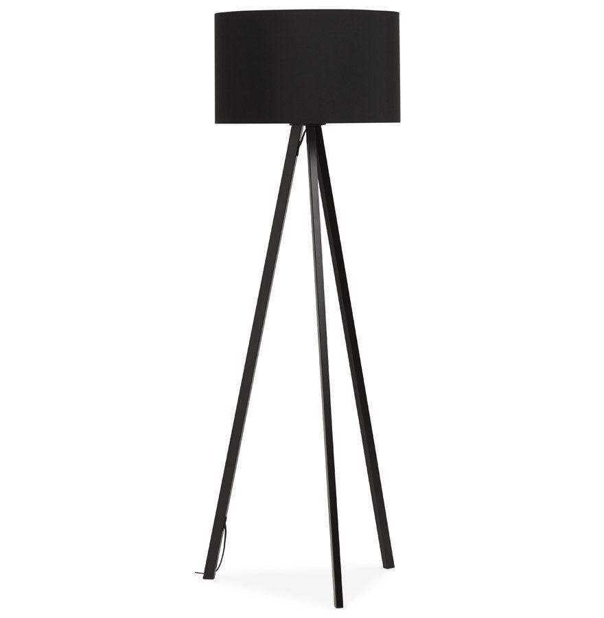 Black Modern Kokoon Trivet Floor Lamp FL00310BLBL