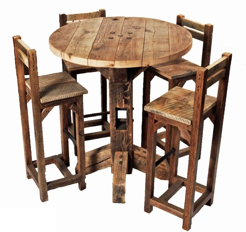 Photo Pub Table With Chairs Images In Tall Bar Table And Chairs At Los Angeles Mesa Bistro Alta Moveis De Paletes Mesas E Cadeiras