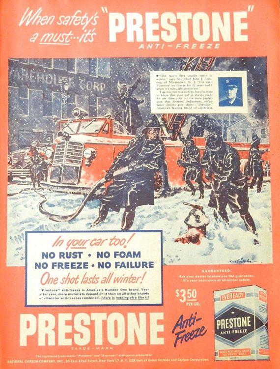 Prestone Anti Freeze ad