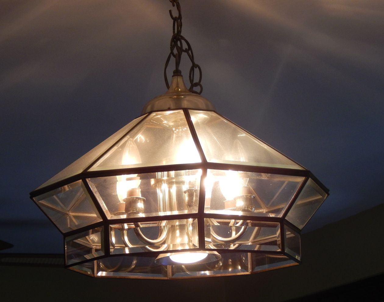 Old glassbrass chandelier pre update dining room pinterest old glassbrass chandelier pre update arubaitofo Images