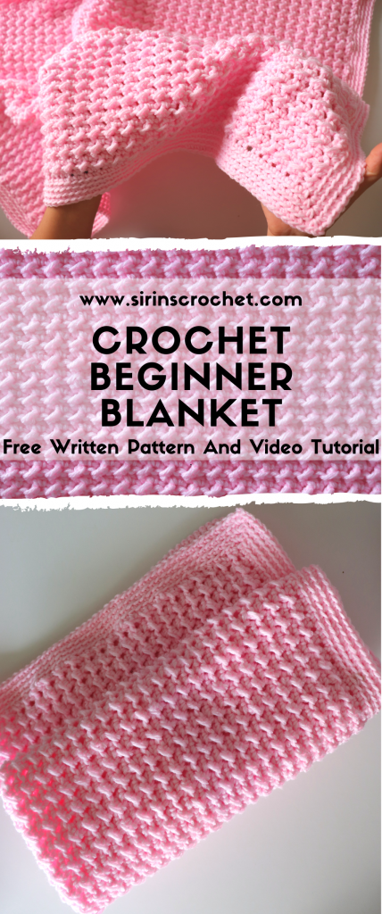Fast And Easy Beginner Blanket #crochethooks