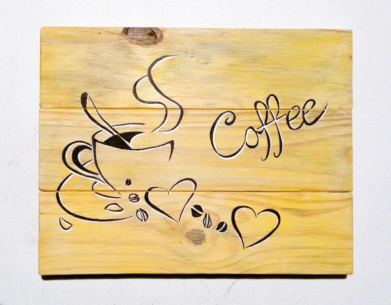 Pallet wall art / kitchen wall decor by CarteriArtAndDeco on Etsy ...
