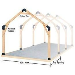 Picture of 39 lumber links 39 in use build your own garage for Build your own pole barn home