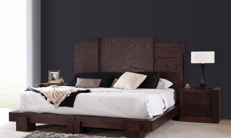 Recamara elaborada en madera de encino color tabaco for Catalogo de muebles de dormitorio