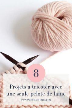 bb8f980a07ec 8 projets à tricoter avec une seule pelote de laine   tricot, crochet    Pinterest   Tricot, Laine et Pelote de laine