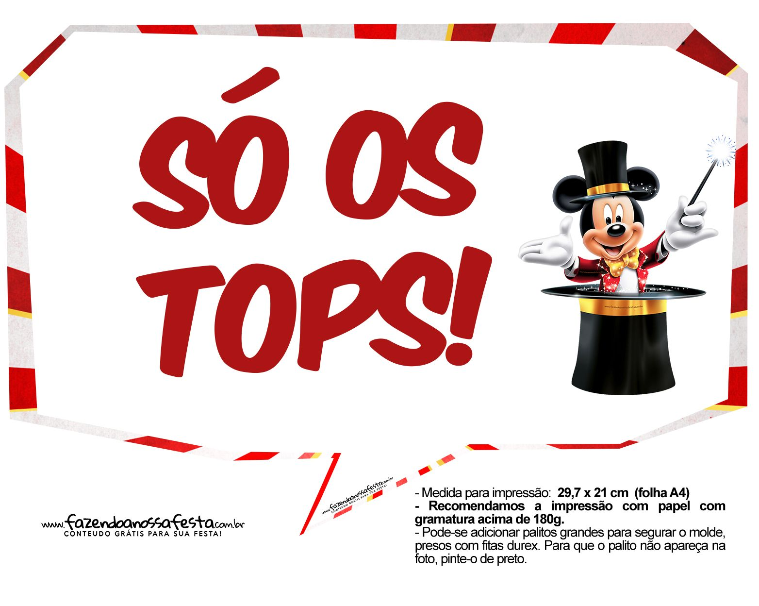 Plaquinhas Divertidas Mickey Circo 16 Circo Do Mickey Placas