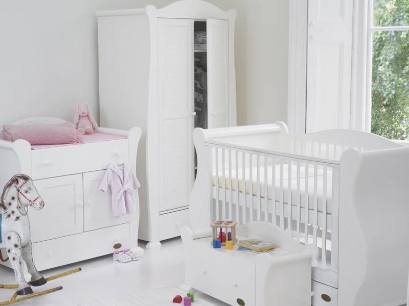 Tutti Bambini Marie White Nursery Bundle
