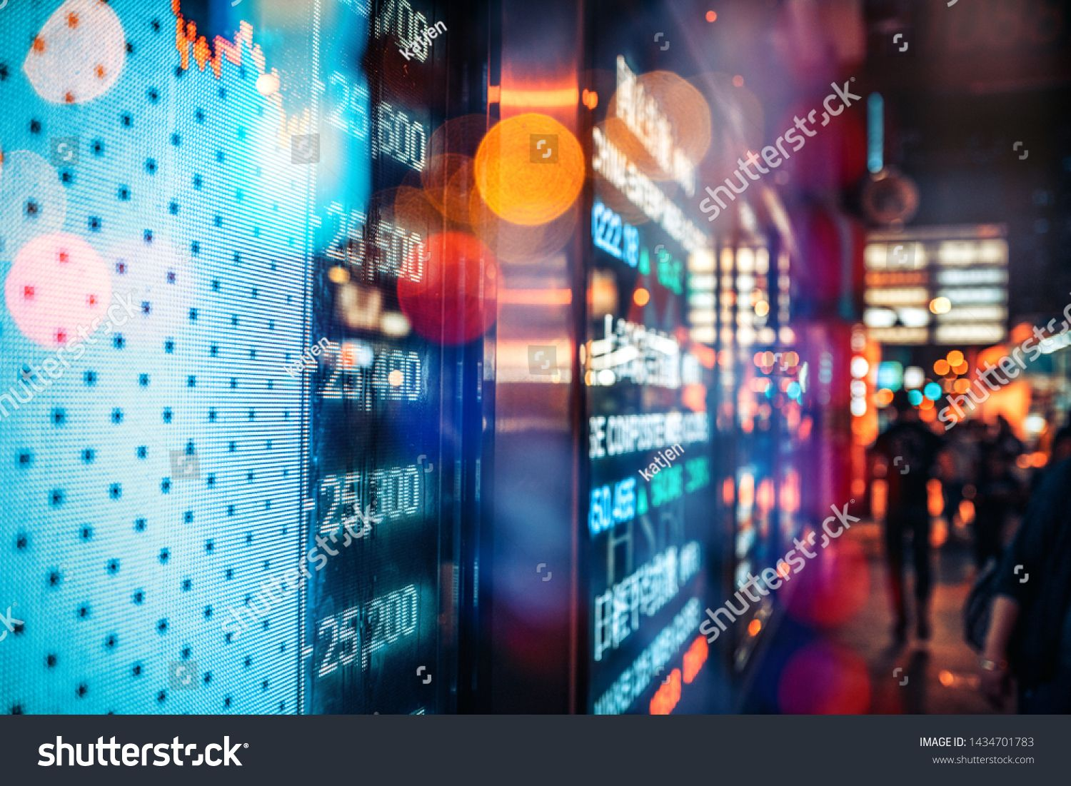 Financial Stock Exchange Market Display Screen Board On The Street Selective Focus N Ad Spon Market Di Stock Exchange Market Stock Exchange Stock Market