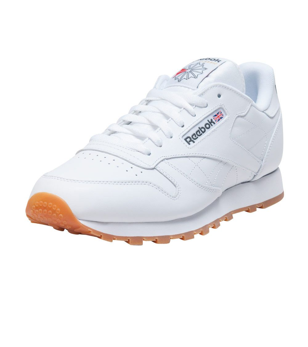 0621d3ea0f17c REEBOK Classic leather sneaker Men s low top shoe Lace up closure Padded  tongue with REEBOK logo R... True to size. Leather. White 49797.