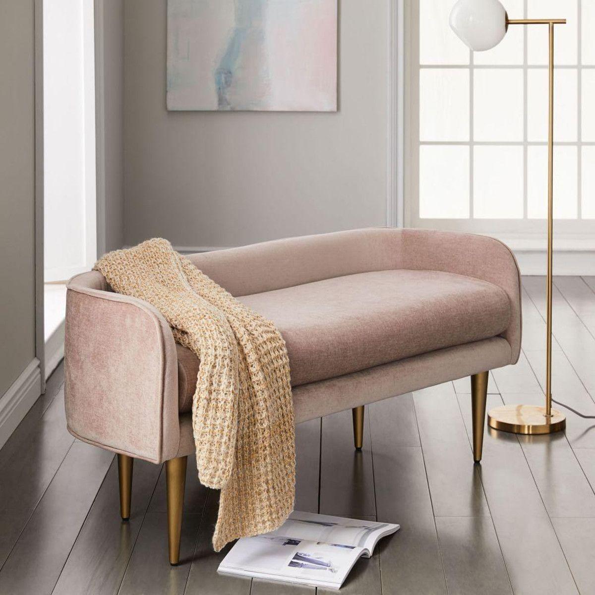Celine bench furniture pink living room small room design