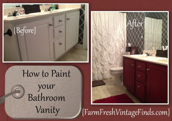 Painting Bathroom Cabinets Black roundup of painted cabinet tutorials - farm fresh vintage finds