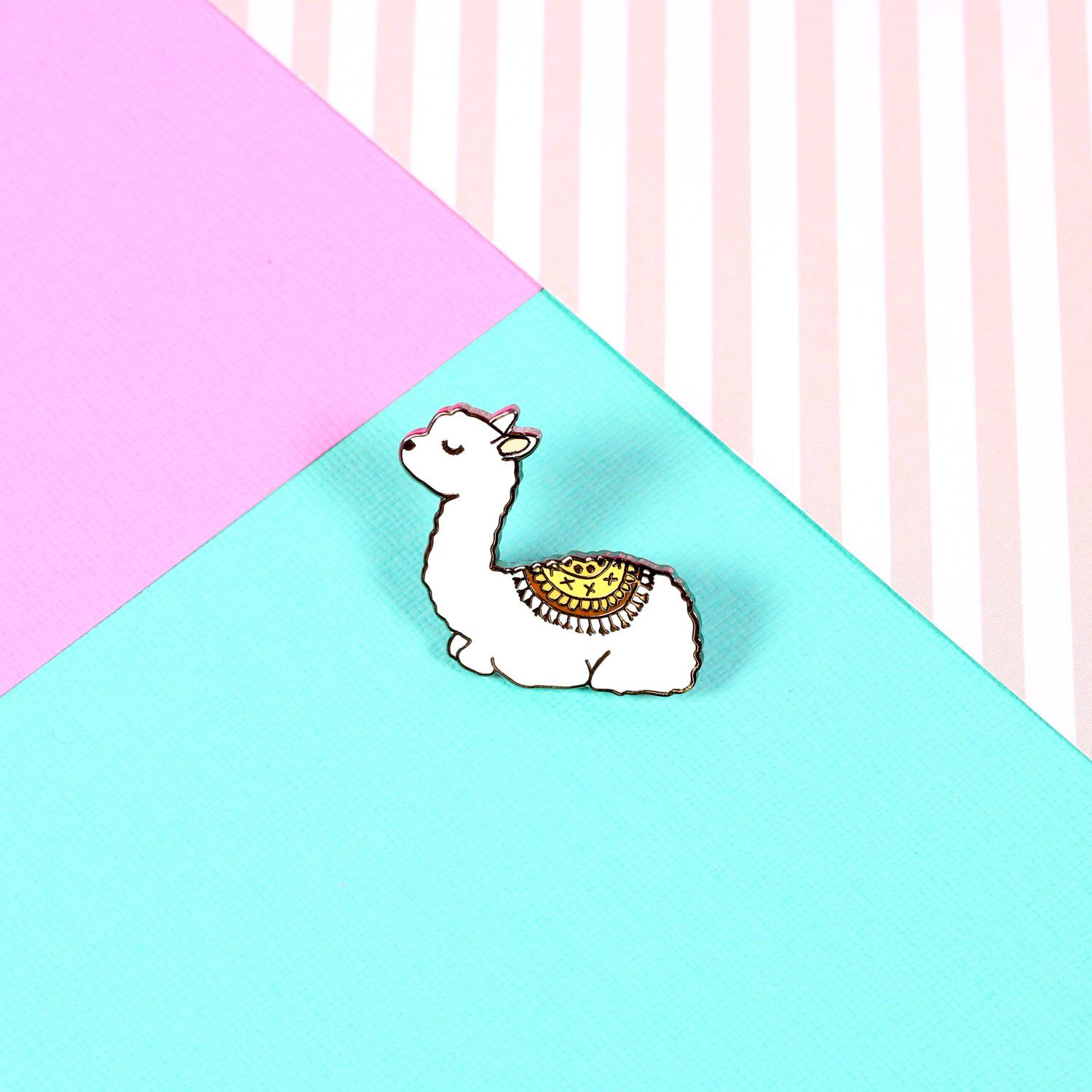 Baby Llama Enamel Pin with clutch back // EP137 by Punkypins on Etsy https://www.etsy.com/listing/481049037/baby-llama-enamel-pin-with-clutch-back