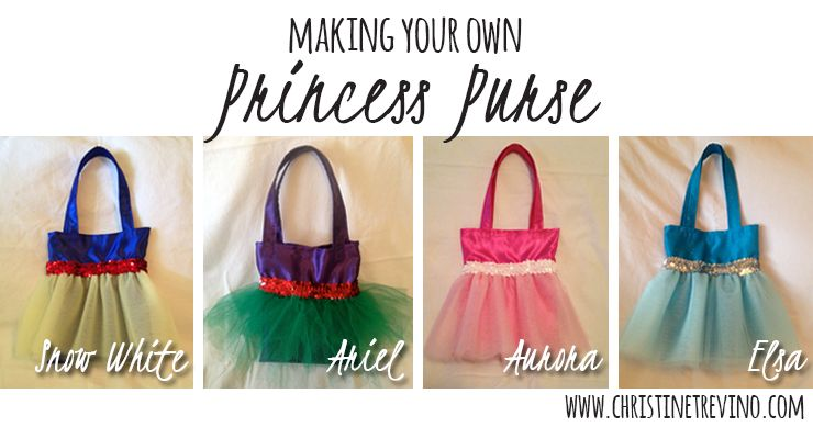 Making Your Own Princess Purse - Super frilly, super girlie princess lined satin princess purses! - Christine Trevino