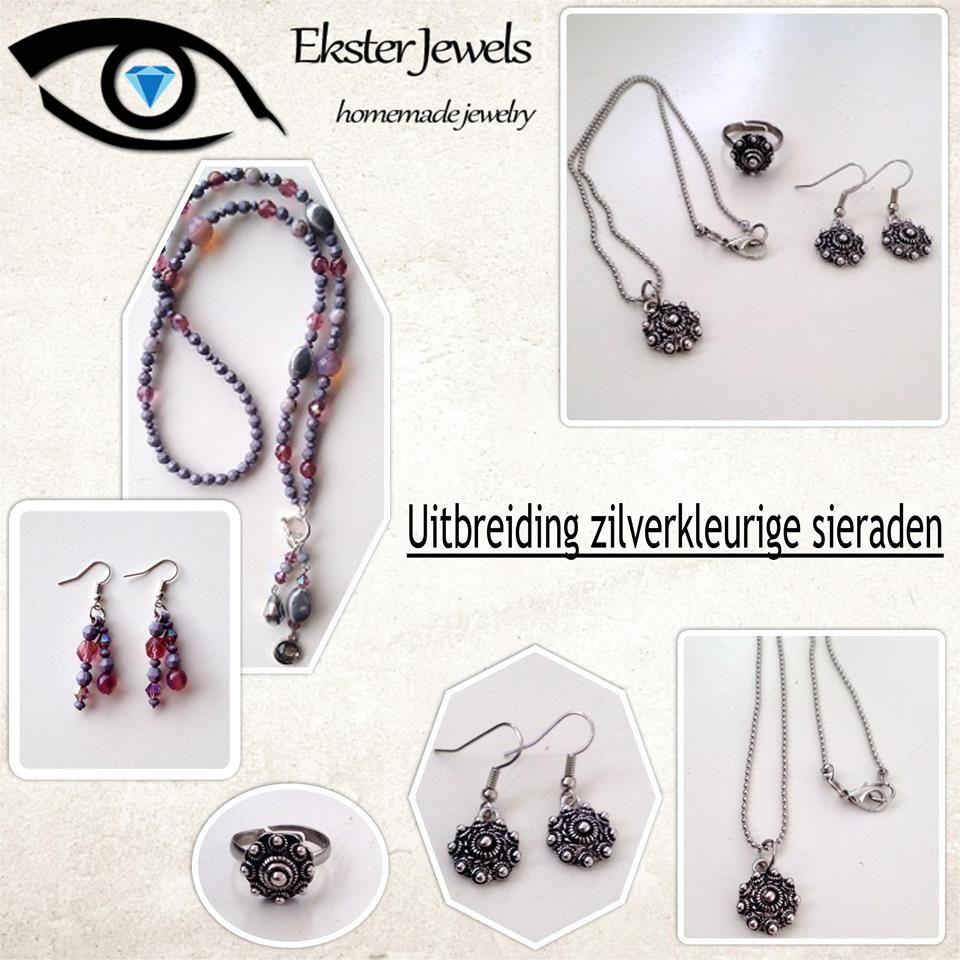 Uitbreiding van zilverkleurige sieraden op Ekster Jewels!