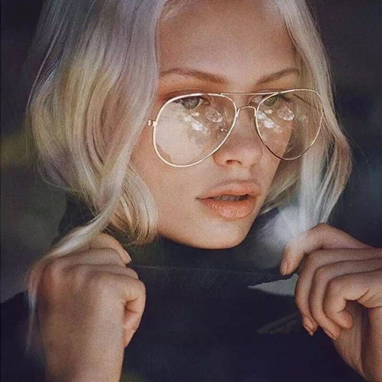 5a9e52496a408 Unisex Big Round Metal Frame Clear lens Vintage Retro Geek Fashion Glasses