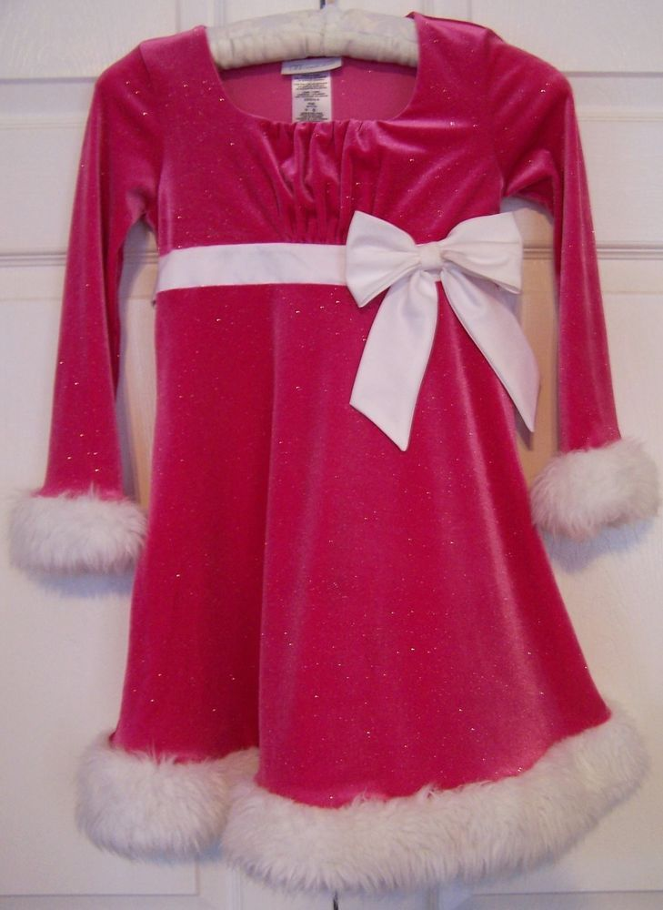 Girls Bonnie Jean Hot Pink Christmas Party Pageant Dress
