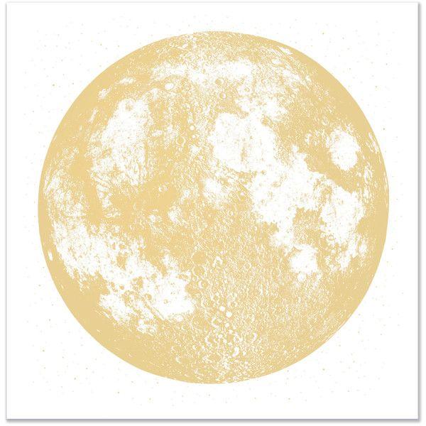 Copper Moon Print, Wall Art, Full Moon large screenprint, metallic ...