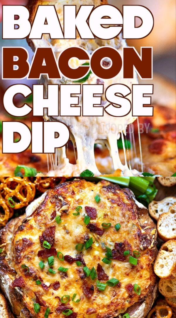 Baked Bacon Cheese Dip This Baked Bacon Cheese Dip is the ULTIMATE party food. This creamy cheese d