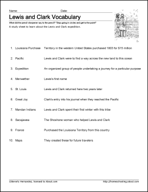 picture regarding Lewis Clark Printable Activities identified as Totally free Lewis and Clark Printable Worksheets and Coloring Internet pages