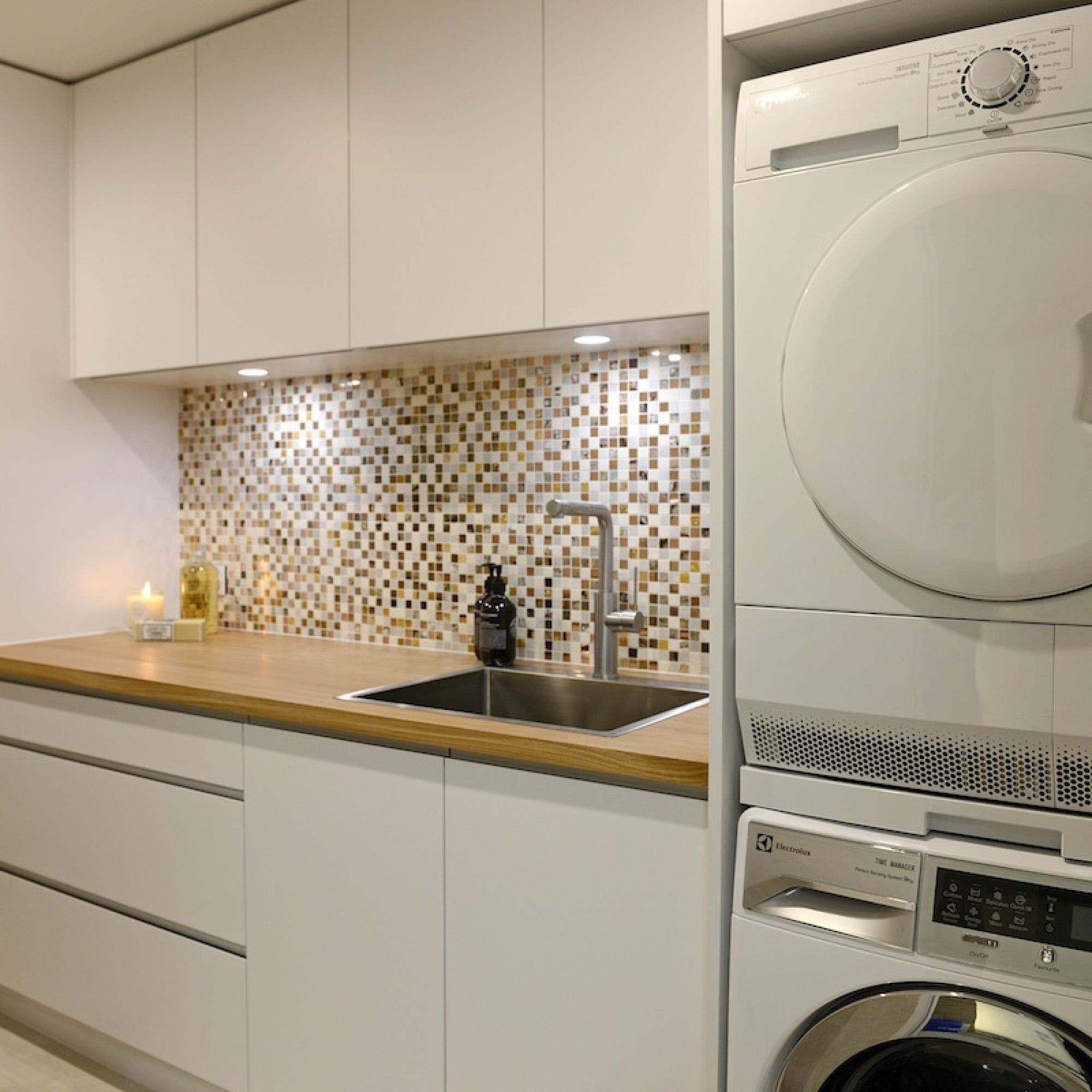 Bathroom Laundry Room Layout: Laundry And Powder Room