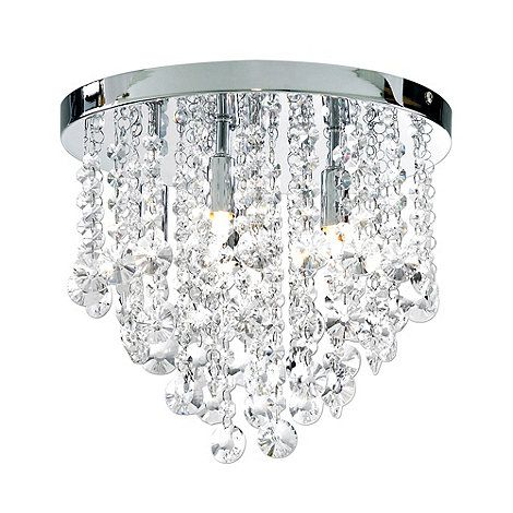 Litecraft Montego Flush 6 Light Chrome Crystal Ceiling At Debenhams 93 60