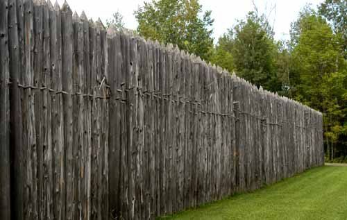 Palisade Palisades Wooden Fort Concrete Fence