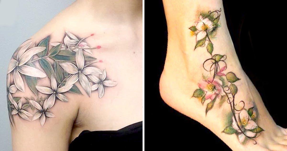 Pin by AlyDeezy on Tattoos   Jasmine tattoo, Jasmine