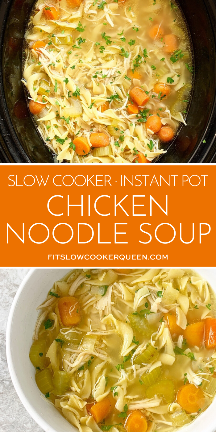 Slow Cooker And Instant Pot Chicken Noodle Soup Chickennoodlesoup Chicken Noodle Soup Crock